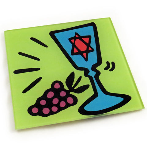 Kiddish Cup Tempered Glass Trivet