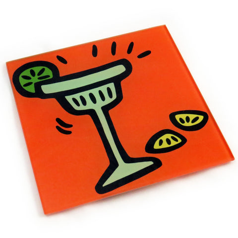 Margarita Tempered Glass Trivet