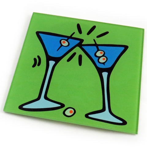 Martini Tempered Glass Trivet