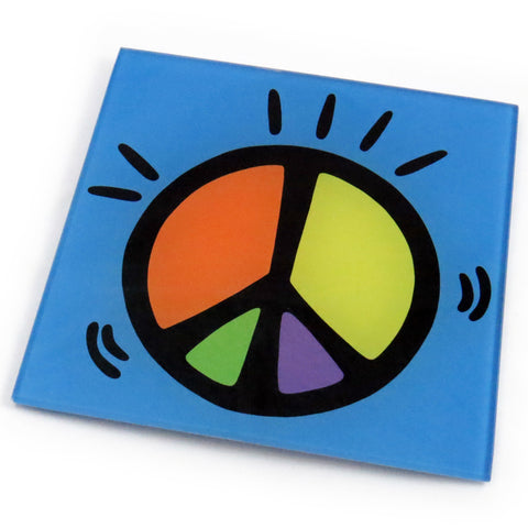 Peace Tempered Glass Trivet