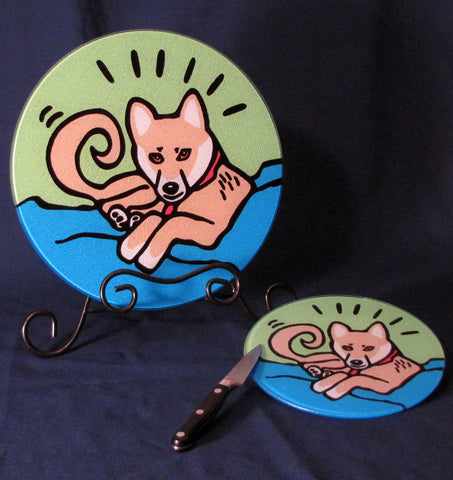 Shiba Inu Puppy/Dog Cutting Board - 2 Sizes Available