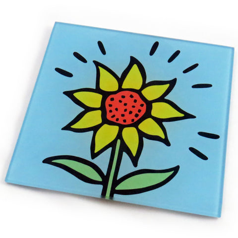 Sunflower Tempered Glass Trivet