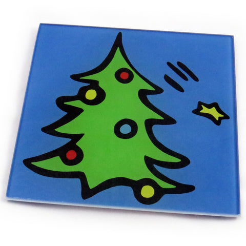 Christmas Tree Tempered Glass Trivet