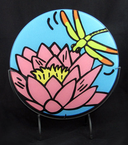 Waterlily with Dragonfly Cutting Board - 2 sizes available