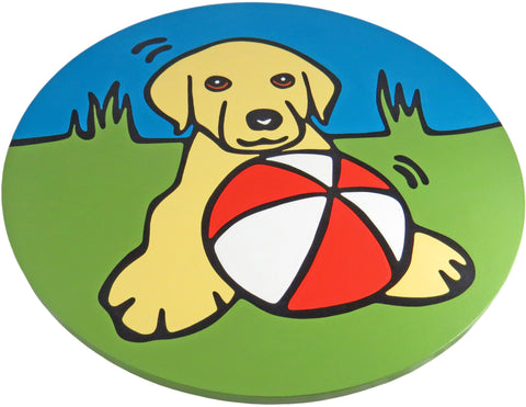 Yellow Labrador Retriever (Yellow Lab) Puppy/Dog Lazy Susan