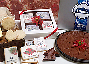 Holiday Branded Logo Cookies and Brownie Gifts