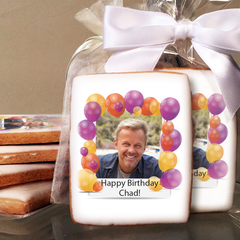 Celebration Balloon Photo Cookies