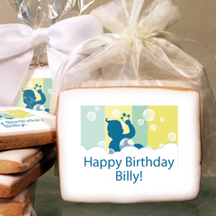Baby Bubble Bath Photo Cookies