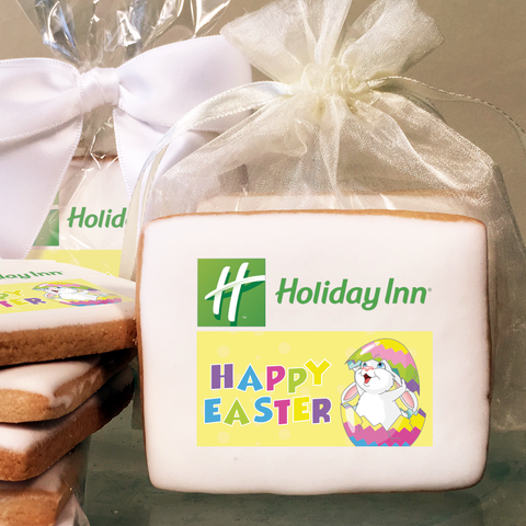 Easter Bunny Custom Logo Cookies