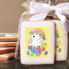 Easter Bunny Photo Cookies