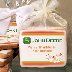 Give Thanks Pumpkin, Thanksgiving Logo Cookies