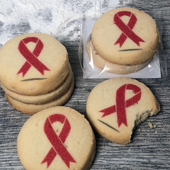Breast Cancer Awareness Ribbon Cookies 48 Pack
