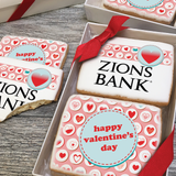 Valentine's Day Retro Heart Icons Logo Cookie Gift Box (3 Sizes)