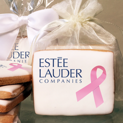 Custom Breast Cancer Awareness Ribbon Rectangular Cookies