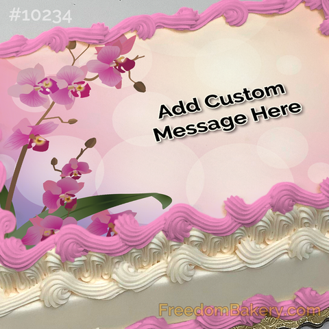 Orchid Love Photo Cake