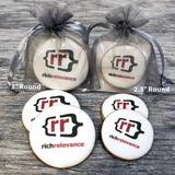 Custom Round Logo Cookies in Organza Bag