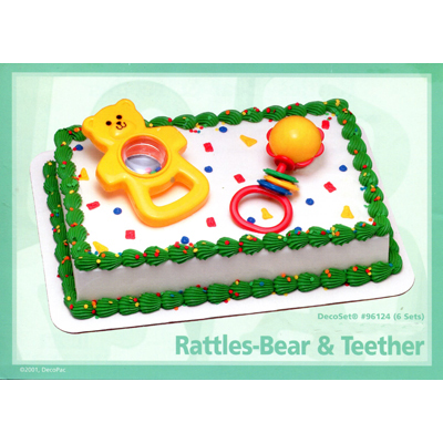 Rattles-Bear & Teether Toy Cake
