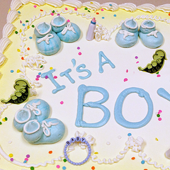 Butter Cream Baby Booties Cake Design