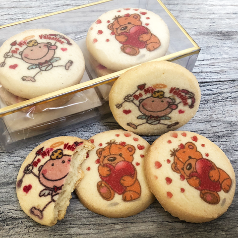 Valentine's Day Teddy Bear Cookie Pack
