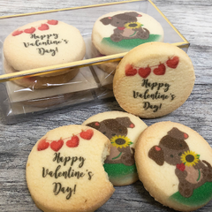 Valentine's Day Puppy & Hearts Cookie Pack