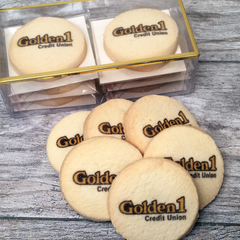 6 Custom Logo Cookie Emblems Gift Box