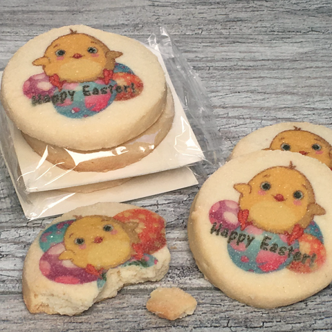 Easter Chick Cookie with Cello Wrap