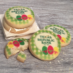 Custom Logo Easter Cookie Emblems in Cello Wrap