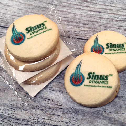 Custom Logo Cookie Emblems in Cello Wrap