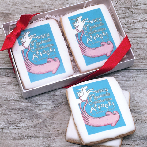 2 Custom Logo Cookies Gift Box