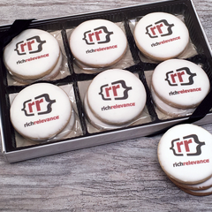 12 Custom Logo Cookies Gift Box