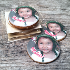 Custom Round Photo Cookies with Cello Wrap