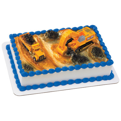 Construction Dig Toy Cake
