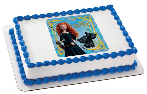 Brave Merida and Cubs Photo Cake