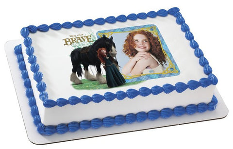 Brave Merida and Angus Photo Cake