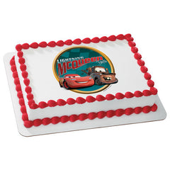 Cars Victory Lane Photo Cake