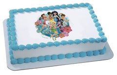 Disney Fairies Pixie Hollow Friends Photo Cake