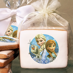 Frozen Olaf, Elsa & Anna Photo Cookies