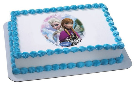 Frozen Sisters Photo Cake