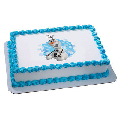 Disney Frozen Olaf Snowflakes Photo Cake