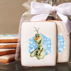Disney Frozen Olaf Snowflakes Photo Cookies