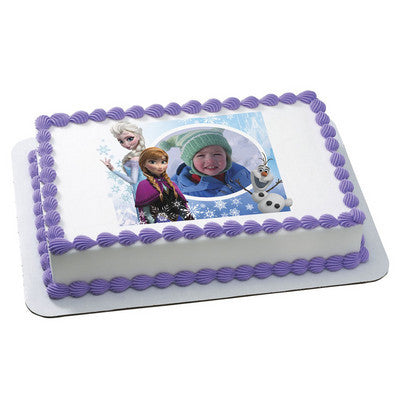 Frozen Family Forever Photo Cake