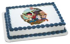 Jake and the Neverland Pirates Anchors Aweigh Photo Cake