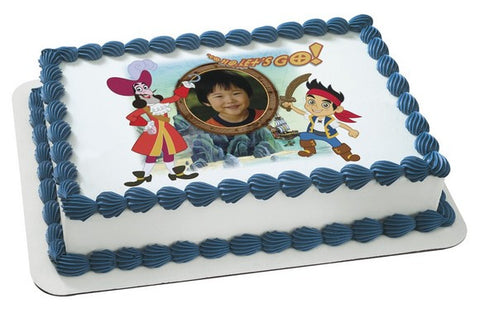 Jake and the Neverland Pirates Yo Ho Let's Go  Photo Cake