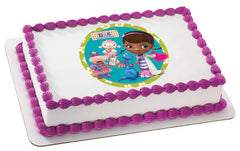 Doc McStuffins Doc & Friends Photo Cake