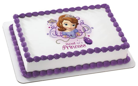 Sofia the First Sweet as a Princess Photo Cake