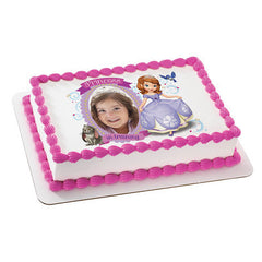 Sofia the First Princess in Training Photo Cake