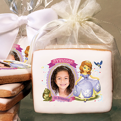 Sofia the First Princess in Training Photo Cookies