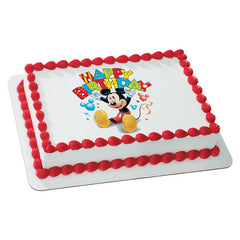 Mickey Mouse Happy Birthday Photo Cake