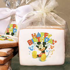 Mickey Mouse Happy Birthday Photo Cookies