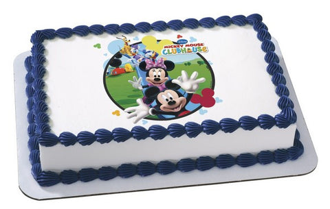 Mickey and Friends Clubhouse Fun Photo Cake